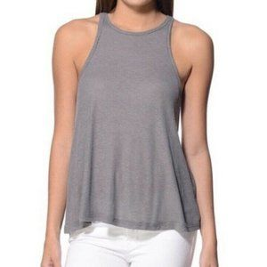 FREE PEOPLE  Ribbed High Neck Tank